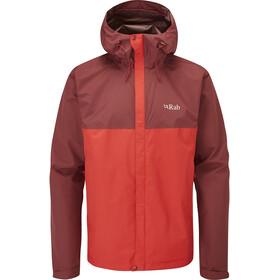 Rab Downpour Plus Jacket Men deep heather/ascent red